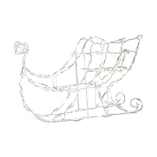 Brite Star Manufacturing 46-248-55 3D Light Wire Sleigh, Clear