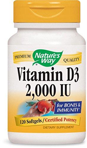 Nature's Way Vitamin D-3 2000 Iu, Softgels, 120-Count