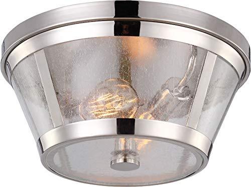 - Feiss FM393PN Harrow Glass Flush Mount Ceiling Lighting, Chrome, 2-Light (14