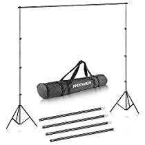 Neewer® Background Stand Support System 2.6M x 3M/8.5ft x 10ft Kit with Carrying Case for Muslins Backdrops,Paper andCanvas