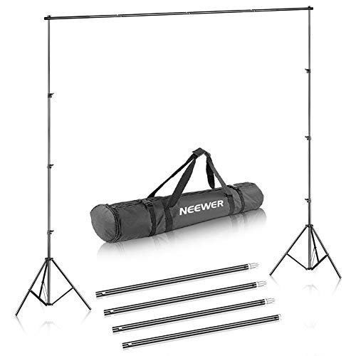 (Neewer® Background Stand Support System 2.6M x 3M/8.5ft x 10ft Kit with Carrying Case for Muslins Backdrops,Paper and)