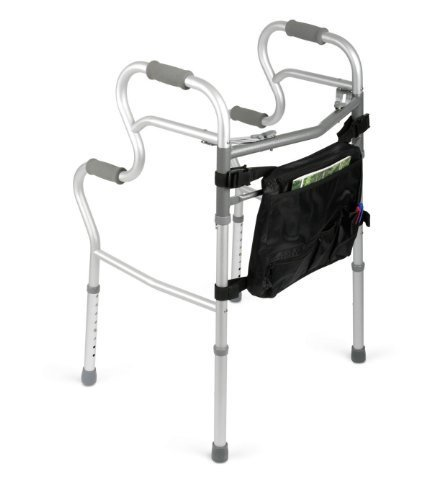 medline MDS86410URR 3-in-1 Stand Assist Walker, Red (Pack...