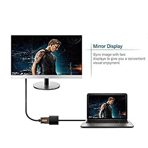 Premium USB 3.0/2.0 to VGA Adapter, Super High Speed USB to VGA Adapter PC Laptop Full HD External Video Card Multi-Display Video Converter for Win 7/8/8.1/10, NO Need CD Driver