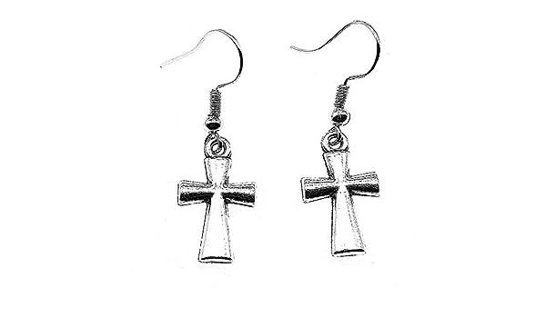 Taliyah 1 Pair Cross Drop Earrings Earring Female 2018 with Earring Backs Stopper