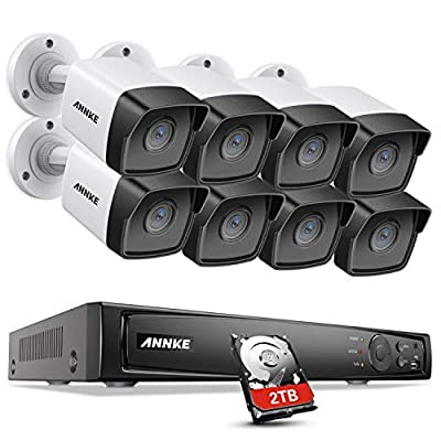 ANNKE 5MP PoE Home Security Camera System H.265+ 8CH 4K NVR with 8pcs 5MP Outdoor PoE IP Cameras, Starlight Color Night Vision, IP67 Weatherproof, Easy Remote Access, 2T HDD Store More Video