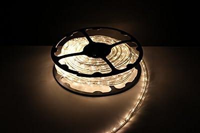 LED ROPE LIGHT, SOFT WHITE LED ROPE LIGHT KIT FOR 120V, Christmas Lighting, Outdoor Rope Lighting