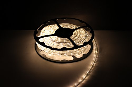 50Ft Rope Lights; Soft White LED Rope Light Kit; 1.0''LED Spacing; Christmas Lighting; outdoor rope lighting by ORANGE TREE TRADE