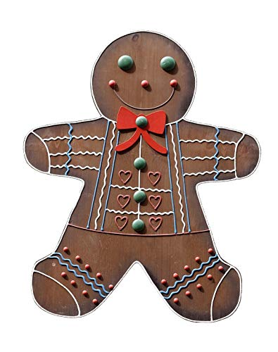 Home Comforts Canvas Print Crafts Wood Gingerbread Man Sign Decoration Vivid Imagery Stretched Canvas 32 x ()