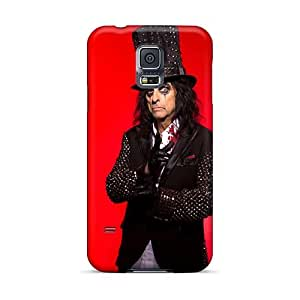 Great Hard Phone Case For Samsung Galaxy S5 With Unique Design Fashion Alice Cooper Band Skin TimeaJoyce