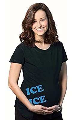 Women's Ice Ice Maternity T Shirt Funny Baby Pregnancy Tee