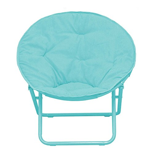 American Kids Solid Faux-Fur Saucer Chair (Teal)