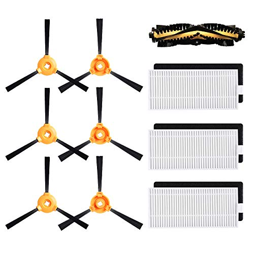 Alonyi Replacement for DEEBOT N79S Main Brush, Filter, Side Brush Accessory Kit for Ecovacs DEEBOT N79 N79S Robotic Vacuum Cleaner, Pack of 10