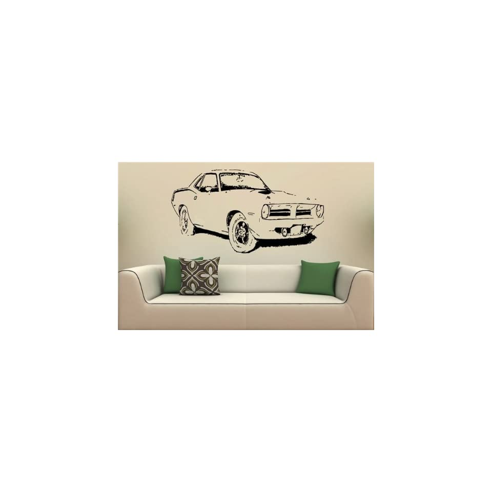 Wall Mural Vinyl Decal Stickers Car Plymouth Barracuda 1970 S2087