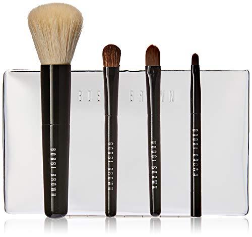 Bobbi Brown Mini Brush Set By Bobbi Brown for Women - 5 Pc Brush Case, Mini Face Blender Brush, Mini Cream Shadown Brush, Mini Eye Shadown Brush, Mini Ultra Fine Eyeliner Brush, 5 Count ()