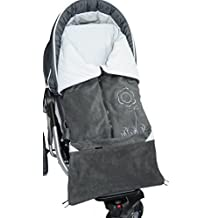ByBoom? - Footmuff 2in1 for Spring, Summer and Autumn/Fall; Universal for infant and child car seats, eg; Maxi-Cosi, for a pushchair/stroller or buggy, Color:Anthracite/Grey by ByBUM