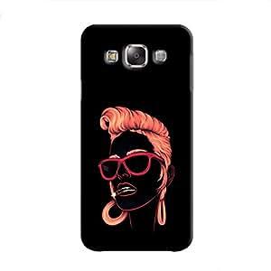 Cover it up Sketchy Girl Samsung Galaxy E5 Hard Case - Black