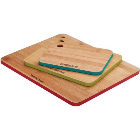 amboo Cutting Board Set with Color Edges ()