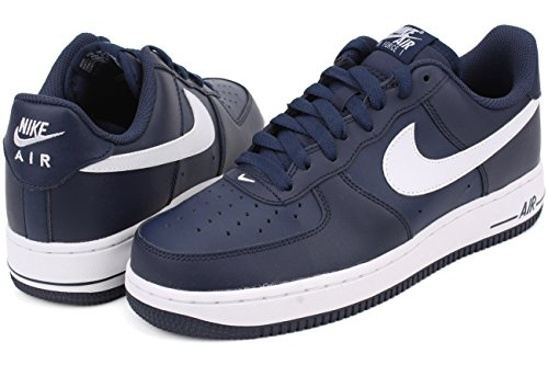 Midnight Low Navy 1 Shoes Force Basketball white Nike Air Mens pqU0FwtHx