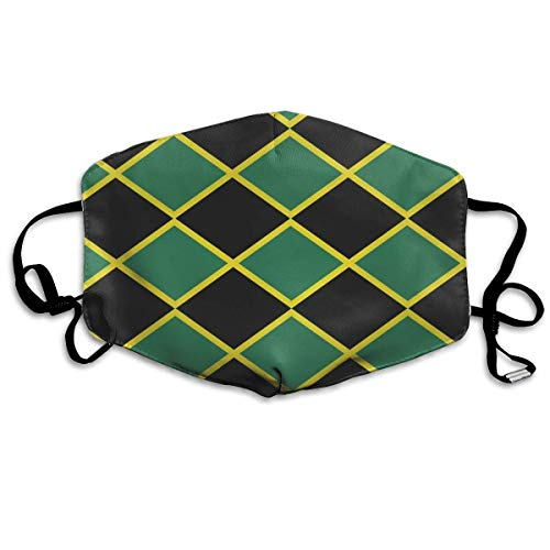 SOADV Mouth Masks Jamaican Flag Stripe Caribbean Island Tropical.jpg PM 2.5 Cotton Face Mouth Mask Muffle Respirator Comfy Reuseable Dustproof Antibacterial Mouth Cover Warm Windproof Face -