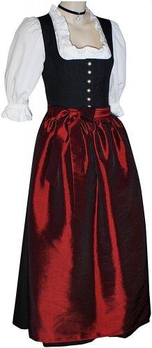 Gr.34-50 Steppmieder Dirndl +Schürze Kleid Dirndlkleid Trachtenkleid schwarz neu, Größe:50