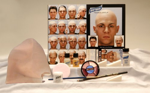 Graftobian Complete Latex Bald Cap Kit with Instructions -