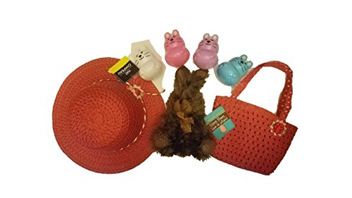 """Chocolate-scented Rabbit - 7"""", Girls Tea Party Hat and Purse"""