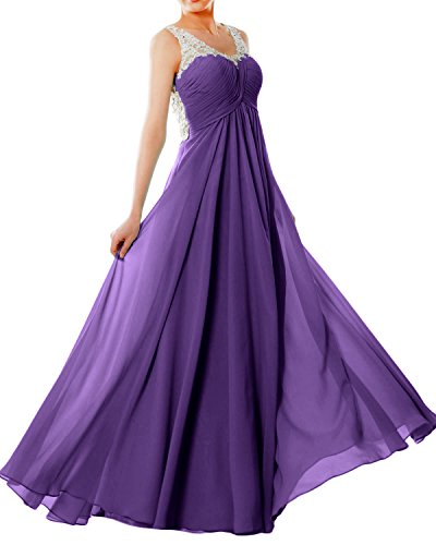 Macloth Dress Chiffon Long Lace Straps Formal Gown Women V Prom Neck Regency Eveningball gqBwagOrH