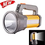 HMAN Super Bright 45W Rechargeable Handheld LED Flashlight Searchlight 10000ma 6000 Lumens Spotlight Waterproof Torch 5 Light Mode With USB Output Mobi