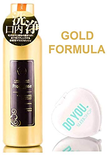 Propolinse GOLD Re-Fresh Mouthwash (Halitosis-Prevention for Smoker, Oral Hygiene) with Sleek Compact Mirror (20.23 OZ - GOLD FORMULA)