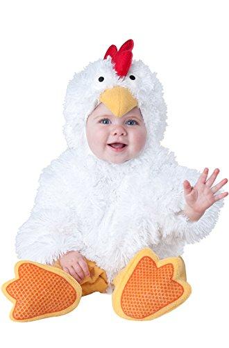 InCharacter Baby's Cluckin' Cutie Chicken Costume, White, X-Small -
