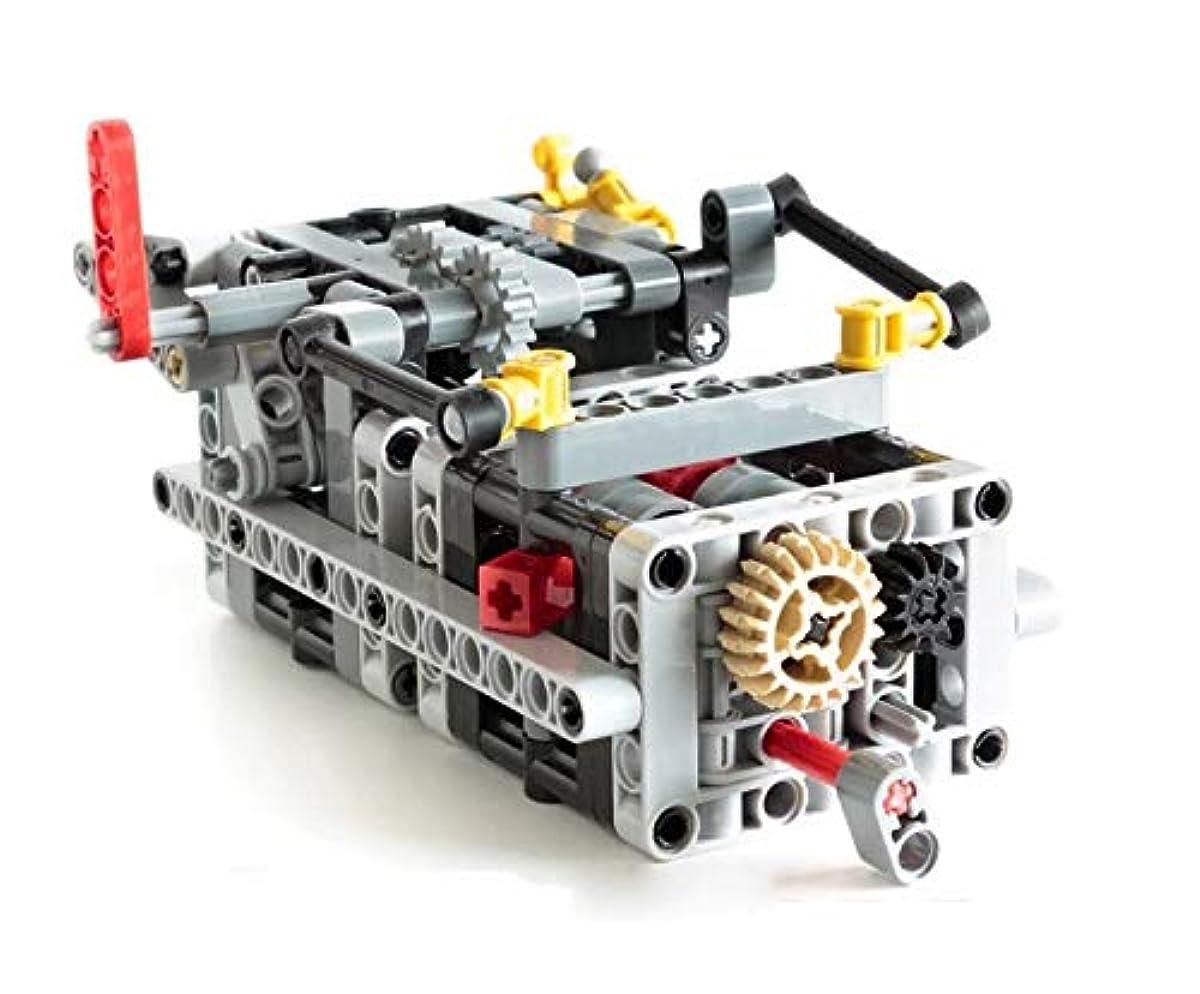 [해외] MOC LEGO 레고 테크닉 호환 파트 8스피드 sequential 기어 박스 키트 VER.1 D211