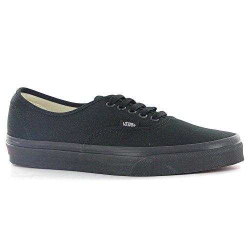 Vans Mens Authentic Core Classic Sneakers (10 D(M) US, Black/black) (Classic Authentic 10 Black Vans)