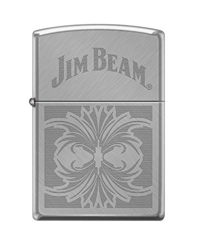Zippo Jim Beam Floral Herringbone Sweep Pocket Lighter