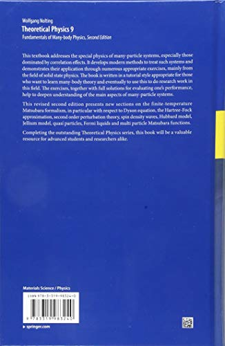 Theoretical Physics 9: Fundamentals of Many-body Physics