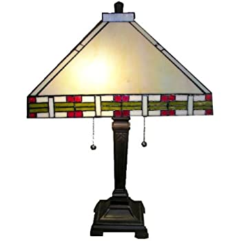 Tiffany-style Mission-Style Table Lamp - - Amazon.com