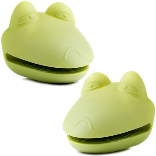 Kitchen Kritters Silicone Frog Pot Holders (Set of 2) by Prime Pacific