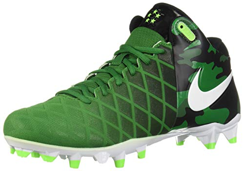 Image of Nike Mens Field General Pro TD Football Cleats (10, Pine Green/White-Black-Electric Green)