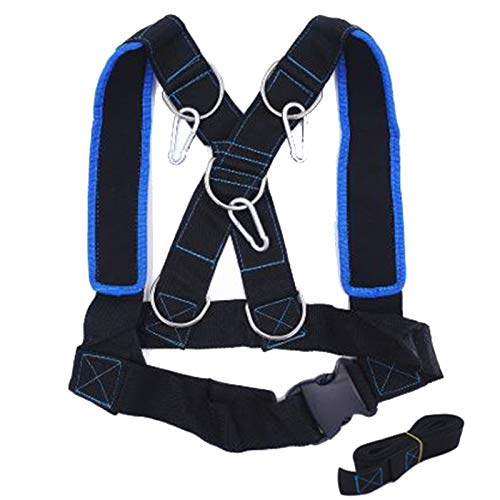 (SODIAL Speed Running Sled Shoulder Weight Training Straps Power Strength Harness Resistance Trainer 1Vest Fitness Equipment)
