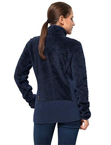 Pile Midnight Blau Fleecejacke Women Xl Wolfskin Pine Atmungsaktiv Jacket Leaf Di Giacca Stripes Jack Donna RPXz7xww