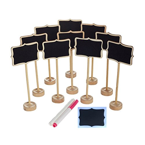NUOLUX 10PCS Mini Chalkboard with Stand,2 Liquid Chalks,10 Pieces Replace Film for Message Board Signs by NUOLUX (Image #6)