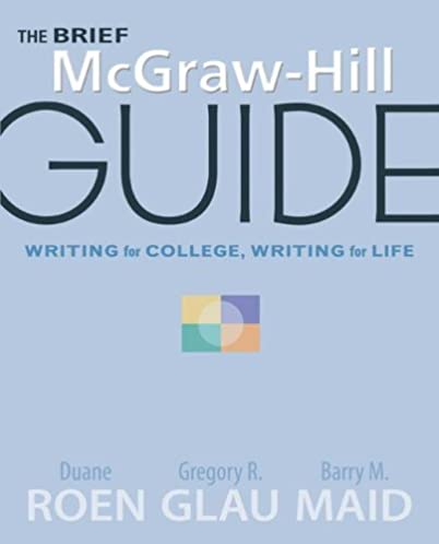 the brief mcgraw hill guide writing for college writing for life rh amazon com McGraw-Hill Books McGraw-Hill Logo