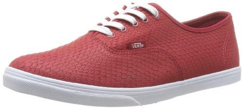 Vans Authentic Lo Pro VGYQETR Unisex - Erwachsene Klassische Sneakers Rojo (Rouge (Embossedsnake))