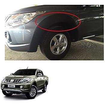 Powerwarauto Front Lh Rh Fender Flares Arch Wheel for Mitsubishi L200 Triton Plus 4Dr Medium Matte Black