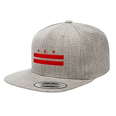 Chicago Flag Hats Washington D.C. Official Flag Snapback Hat 6089M
