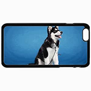 Personality customization Personalized Protective Hardshell Back Hardcover For iPhone 6 Plus, Husky Design In Black Case Color By CP_T case