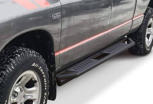 APS iArmor Aluminum Side Steps Armor Custom Fit 2002-2008 Dodge Ram 1500 Quad Cab & 03-09 2500 3500 (Exclude Daytona Rumble Bee and SRT-10 Models) (Nerf Bars Side Steps Side Bars) ()