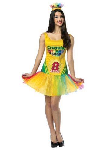 Crayola Crayon Box Dress Costume - Standard - Dress Size 6-12