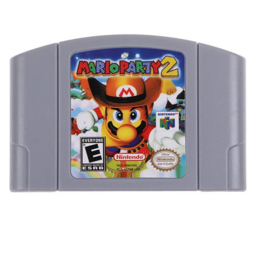 (New For Nintendo 64 N64 Game Card Mario Party 2 Video Cartridge Console)