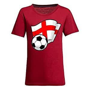 MEIMEICustom Womens Cotton Short Sleeve Round Neck T-shirt with Flags,2014 Brazil FIFA World Cup Soccer Flags RedMEIMEI