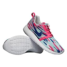 Nike Girl\'s (GS) Roshe One Flight Weight Shoes-Copa/Vivid Pink-7